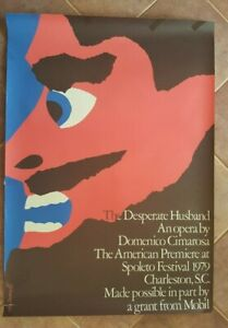 IVAN-CHENMAYEFF-Orig-Lithograph-Poster-Ca-1980-THE-DESPERATE-HUSBAND-OPERA