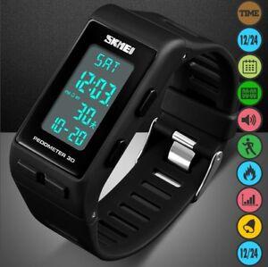 Digital-Pedometer-Walking-Step-Distance-Calorie-Run-Sports-Wrist-Watch-Men-Women