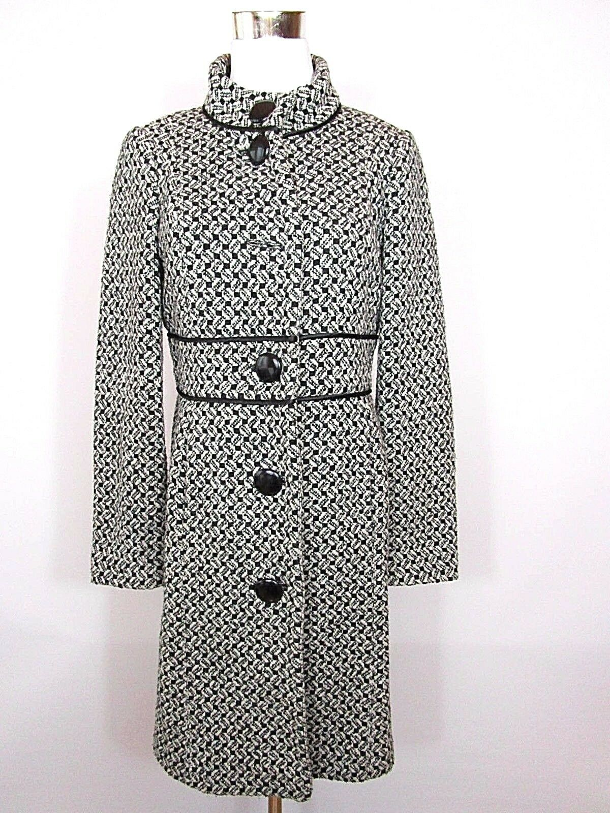 PRINCIPLES WOMENS CASUAL FASHION PRINT WOOL WARM AUTUMN WINTER COAT sz 10 S BA85