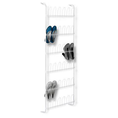 honey can do 18 pair odd shoe rack white w shoe racks household cleaning supplies