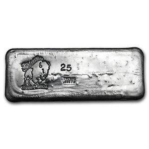 Image Is Loading 25 Oz Silver Bar Bison Bullion Sku 93786