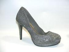 "Fioni Night Gray 4.5"" Platform Heels Closed Toe Pumps Shoes Size 10 M"