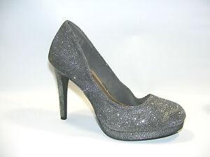 0a9cd1dce80 Fioni Night Women's Gray 10 M Platform Hi Heels Stiletto Pumps Dress ...