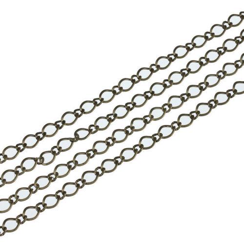 5M//lot Fer Antique Bronze Color 6*8mm Ouvrir le lien Chaînes Collier pour bijoux bricolage