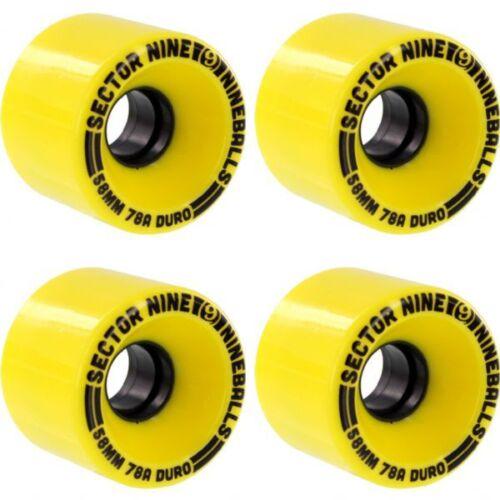 Sector 9 Nineball 58mm 78a Skate Cruiser Wheels Yellow