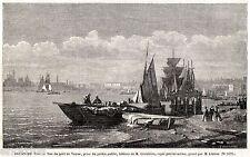 VENEZIA: nel Porto. Laguna Veneta. Regno Lombardo-Veneto. Stampa Antica. 1859