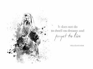 Art Print Albus Dumbledore Quote Harry Potter Illustration Wall