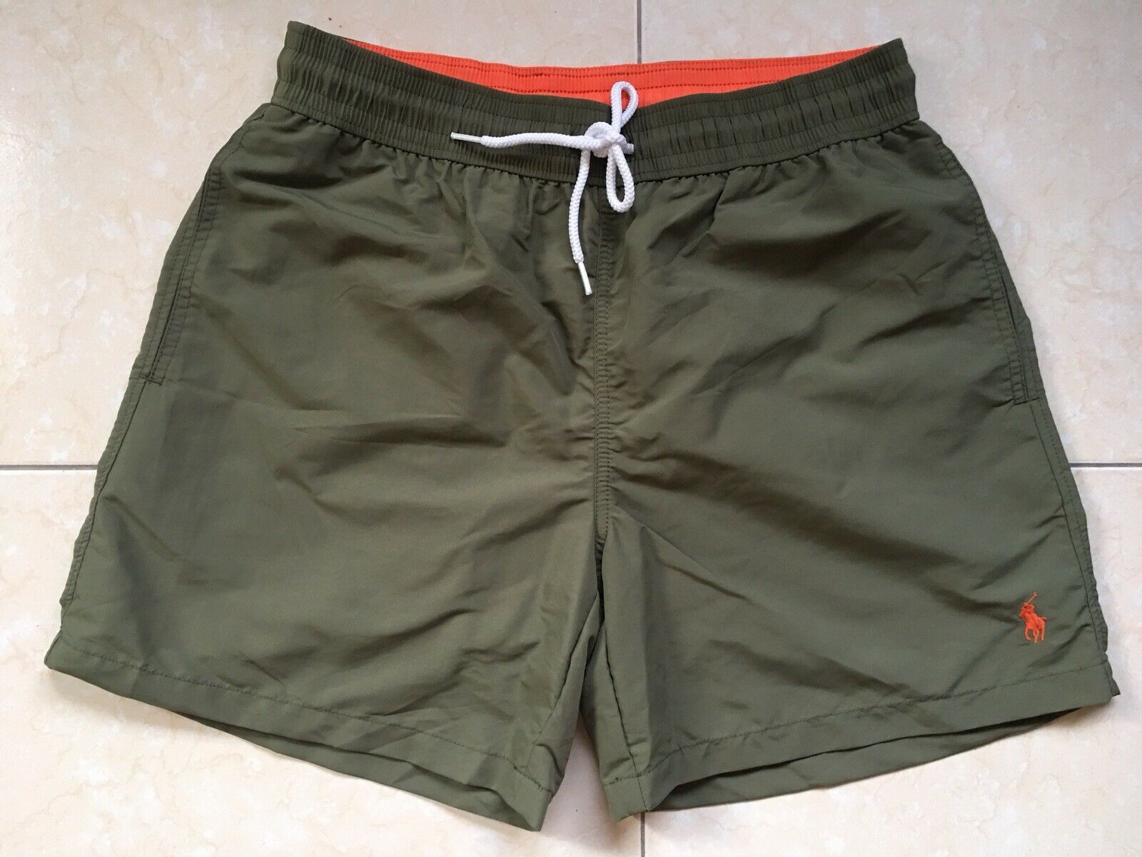 Polo Ralph Lauren Swim Shorts Traveler Trunk Olive Size XS, M or XL