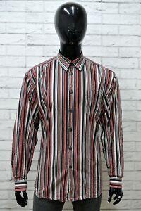 Camicia-LERROS-Uomo-Taglia-Size-XL-Maglia-Shirt-Man-Cotone-a-Righe-Regular-Fit
