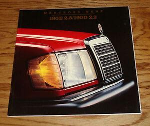 Original-1984-Mercedes-Benz-190E-2-3-190D-2-2-Deluxe-Sales-Brochure-84