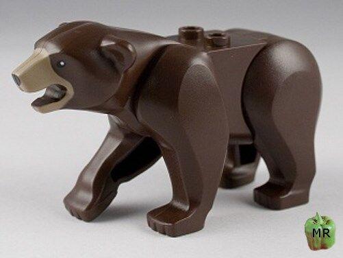 LEGO - Minifig Animal, orso with Dark Tan Muzzle Pattern  - Dark Marronee  risparmia fino al 70%
