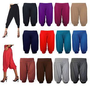 Onorevoli-3-4-Alibaba-Harem-Baggy-Pantaloni-Pantaloncini-Donne-Ritagliata-Estate-Pantaloni-8-22