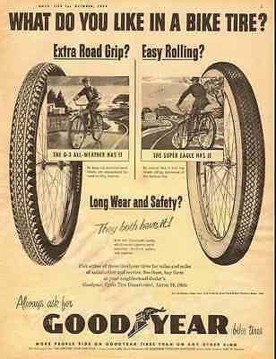 1954 Vintage Ad Goodyear Bicycle Tires 122112 Ebay