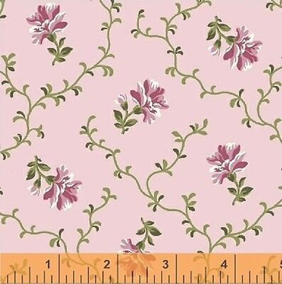 Windham Middleton Place Mauve Pink Red Rose Floral Quilt Fabric 37502-5 4B