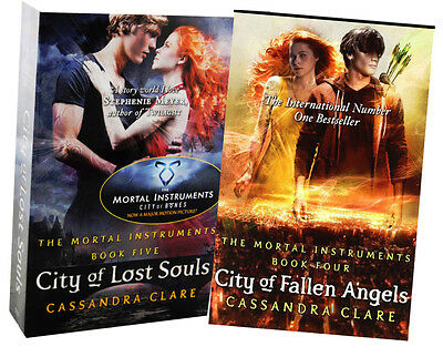 Cassandra Clare Mortal Instruments 2 Books Set, City Of Fallen Angel, Lost Souls