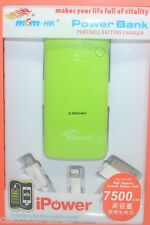 MSM HK Power Bank 7500mAh With Multi Cable For iPhone Tablet Cellphone Phablet
