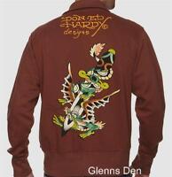 New Ed Hardy Dragon Dagger Track Men's Jacket Size XXL $80