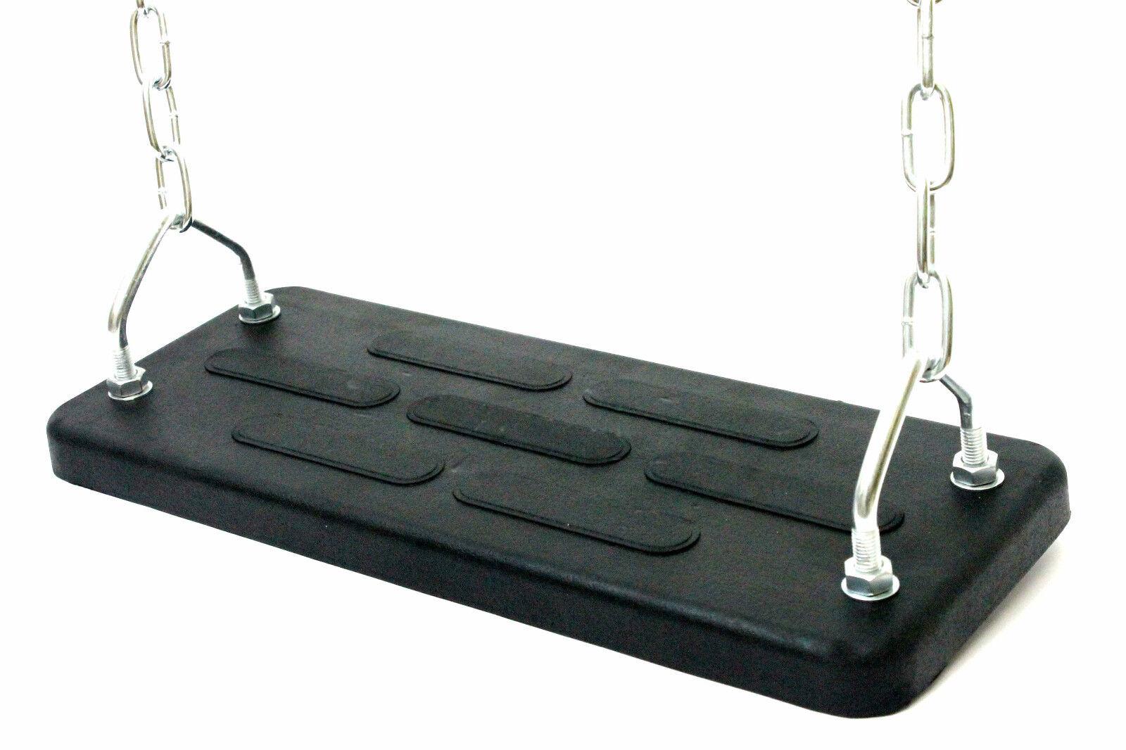 Schaukelsitz mit Kette Metallplatte schwarz 5kg schwer Gummisitz Schaukel breit