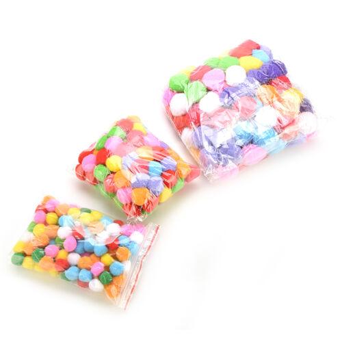 100 PCs DIY mixed color mini Soft moelleux POM pompons pompons ball 20//30//40mm w