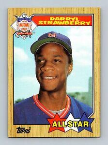 1987 Topps Baseball Card #601 Darryl Strawberry New York Mets All Star Outfielde