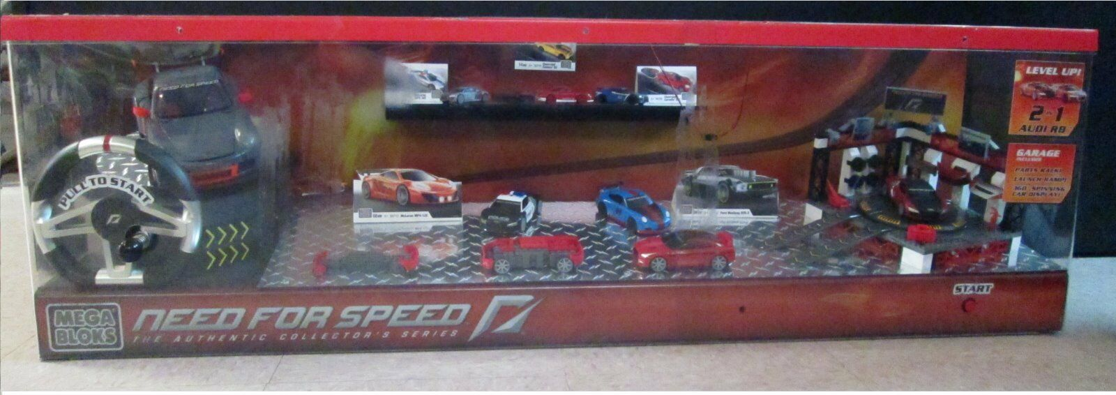 NEED FOR SPEED MEGA BLOKS WORKING STORE DISPLAY
