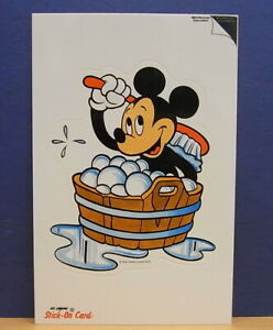 1x-Sticker-Decal-Postcard-Walt-Disney-Mickey-Mouse-Stick-On-Card-80-039-s-1732