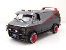 GMC Vandura A-Team Van 1983 TV-Serie grau schwarz Modellauto 1:24 Greenlight