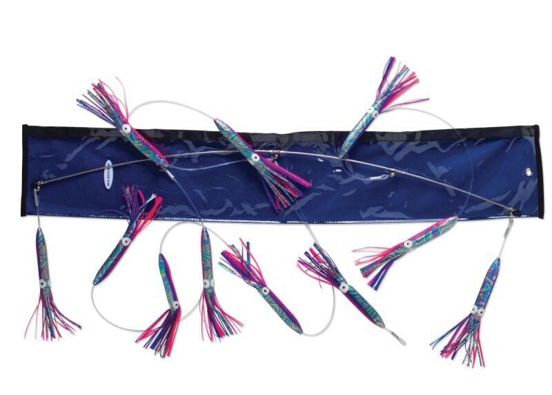 New Williamson Squid Spreader Bar 36  Rainbow bluee Pink Offshore Trolling Fish