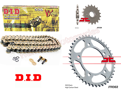Honda CBR1000RR modèle 2010 A or X-ring Chaîne /& JT Sprockets Set Kit