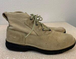 Vintage-90-s-Nike-ACG-Hiking-Trail-Boots-HEMP-LEATHER-Mens-Size-8-RARE