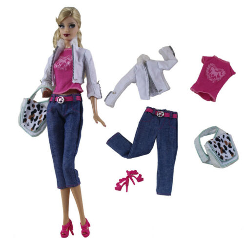 5in1 Set Fashion Casual Dress Suits Clothes For 11.5in.Doll Xmas Gifts C30