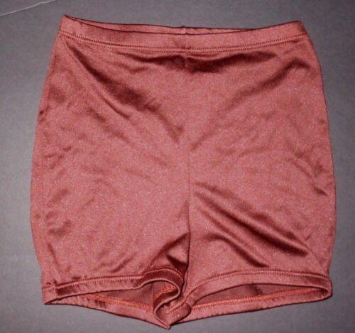 Details about  /NWOT Booty Shorts Highwaist Dance Shorts elastic waist /& leg Nutmeg brown ladies