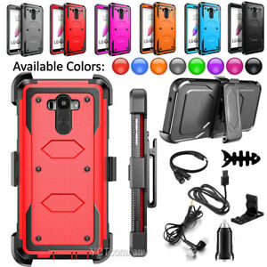 pretty nice b893a 67fce Details about For LG G Stylo 2 / Stylus 2 & Plus Armor Phone Case Belt Clip  Holster Hard Cover