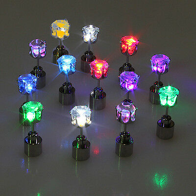 Light Led Blinking Studs Earrings Accessories for Party/Festival    NEW 1 PAIR