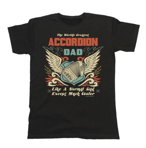 T-shirt homme Worlds Greatest accordéon Père Musicien Band Piano Fête des Pères