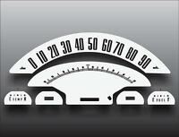 1956 Ford F150 F250 F350 Pickup Truck Dash Instrument Cluster White Face Gauges