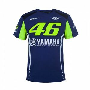 43ca1c9749d Chargement de l image en cours VR46-T-shirt-officielle-Valentino-Rossi -Yamaha-moto-