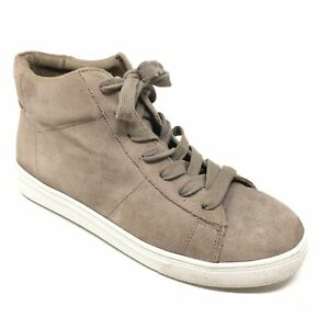 Women-039-s-Blondo-Jax-Waterproof-Shoes-Sneakers-Size-7-5M-Taupe-Suede-Casual-P1