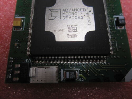 Rare collectible Am5x86-P75 AMD AM486DX5-133W16BHC Chip