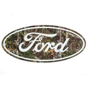 Ford Logo Camo Metal Signs Vintage Style Man Cave Decor Emblem Garage Realtree!