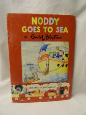 Rare Enid Blyton Noddy Goes to Sea Illustrated Children's Hardcover Jacket 1959