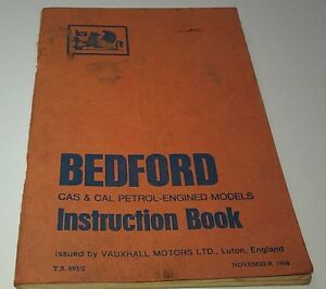 1964-BEDFORD-CAS-amp-CAL-Van-Factory-Instruction-Book