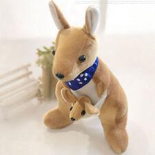 Cute Australia Kangaroo Super Soft Dolls Stuffed Animal Plush Toy Kids Gift 20cm