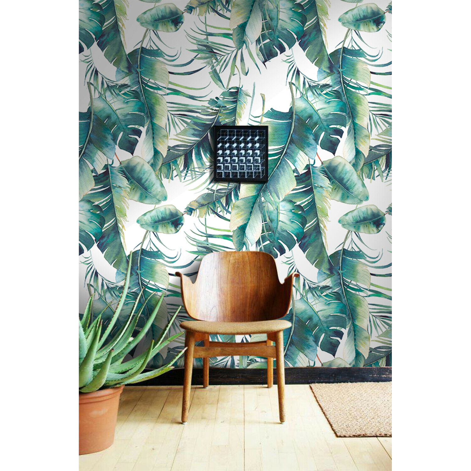 Leaves Explosion self adhesive WaterFarbe wall mural Leaf removable wallpaper