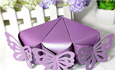 50X Butterfly Favor Gift Candy Boxes Cake Style Wedding Party Baby Shower B234C