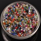 New 200pcs 3mm Bicone Faceted Crystal Glass Loose Spacer Beads Random Mixed
