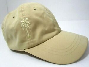 Dorfman-Pacific-Co-Baseball-Hat-Cap-Palm-Tree-Adjustable-Yellow
