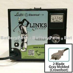 club car golf cart battery charger 36 volt 21 amp lester crowsfoot rh ebay com Schumacher Battery Charger Schematics Diagram 48 Volt Club Car Wiring Diagram