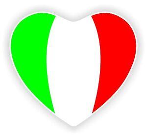 Details Zu Italy Italien Herz Flagge Aufkleber Motorrad Fahne Helm Laptop