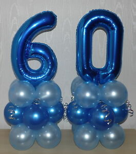 TABLE CENTREPIECE DECORATION  ROSE GOLD AGE 60th BIRTHDAY FOIL BALLOON DISPLAY